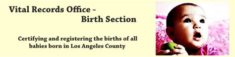 Of Records Norwalk Ca Birth Certificate L A County Health Data Collection Analysis