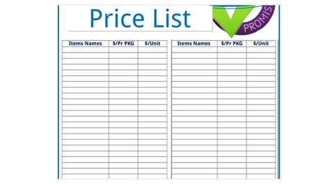 blank price list template 20 price list templates word excel pdf formats