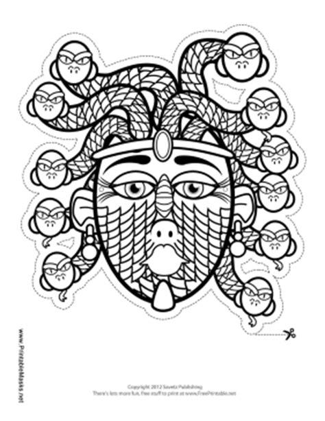 Printable Medusa Mask to Color Mask
