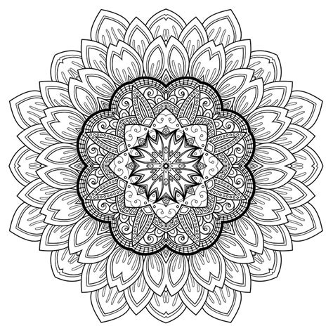 mandala coloring pages therapy high resolution coloring design for stress relief free