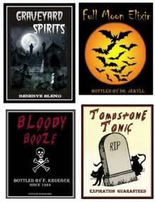 ghoulish grown up beverage labels centsational