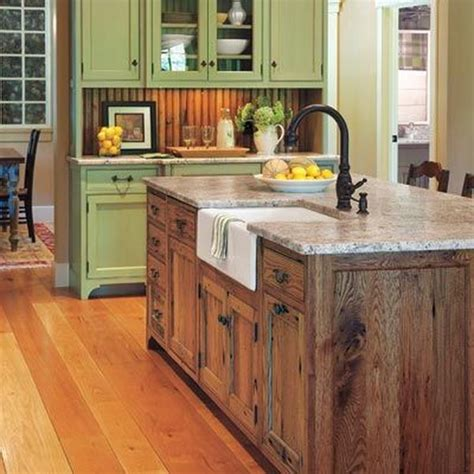 green kitchen island 20 cool kitchen island ideas hative