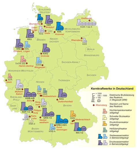 Hamburg Karte by Landkarte Deutschland Kernkraftwerke In Deutschland
