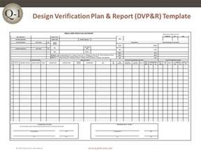 reliability report template dvp r design verification plan and report quality one
