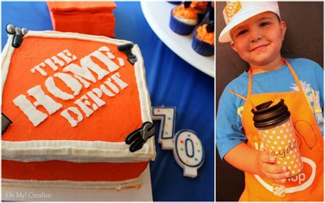 home depot construction birthday