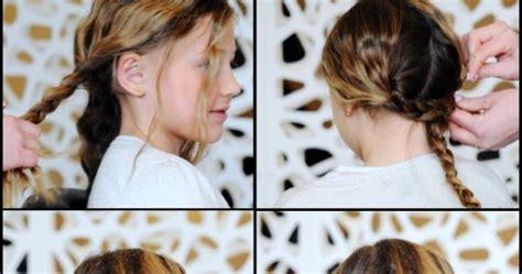 tutorial kepang rambut anak kecil kanubeea hair clip gaya rambut kepang dua sisi untuk si kecil