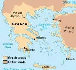 sparta and athens greece maps and education