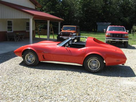 1974 corvette hardtop coupe with t tops 350 4 speed clear