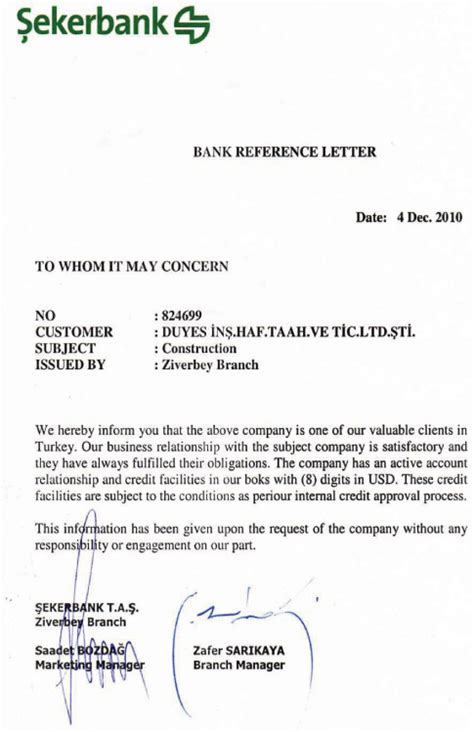 Bank Of China Letterhead bank reference letter company reference letter to bank 7