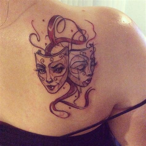 theatre mask tattoo designs drama mask k laughing buddha in seattle