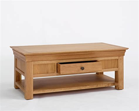 Oak Coffee Tables With Drawers Normandy Oak Coffee Table With Drawer