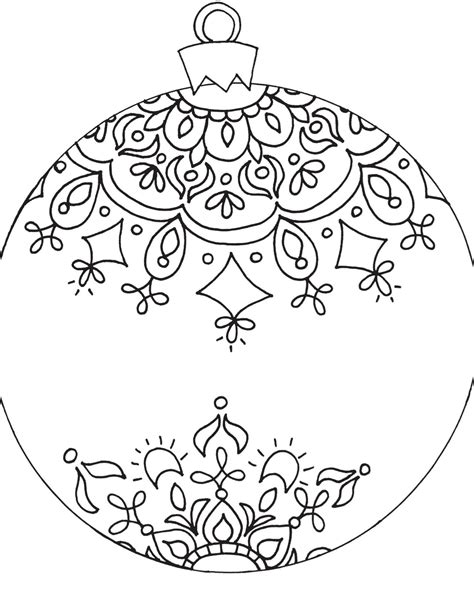 Download Coloring Pages Coloring Pages Christmas Free Ornament Coloring Pages