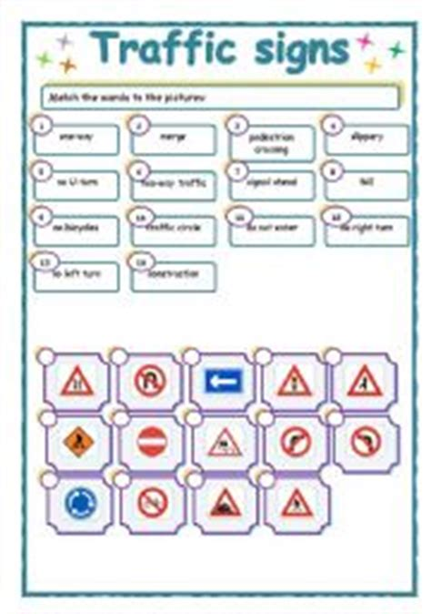 printable road signs worksheets english worksheets traffic signs