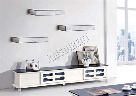 mirrored wall shelves foxhunter bevelled mirrored furniture glass floating