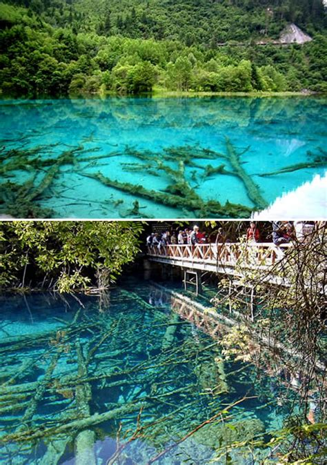 clearest lake in china facts 13 most clear waters on earth the travelsupermarket