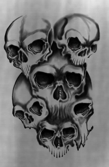 multiple skull tattoo designs 14 best neys ideas images on