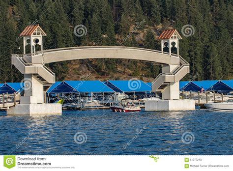 idaho boat license boating on lake coeur d alene editorial image image of