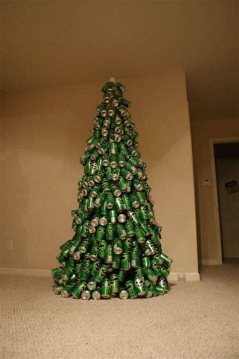 christmas tree of beer cans 12 photos