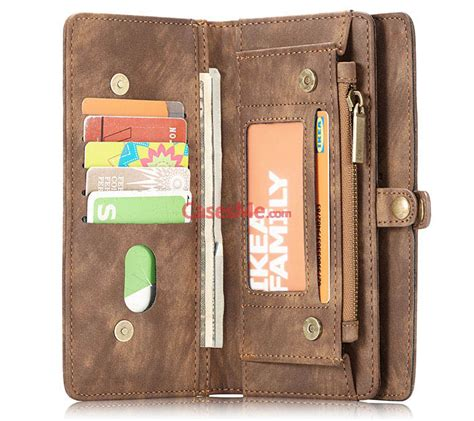 Samsung Note 5 Caseme Multifunction Zipper Leather Luxury Wallet caseme samsung galaxy note 8 detachable zipper wallet