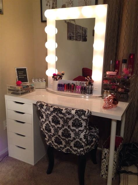 black vanity table with lighted mirror vanity tables with hollywood style homesfeed