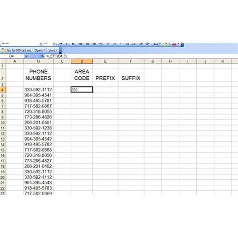 us area codes prefix how to use left right and mid functions in excel