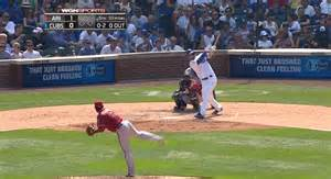 kris bryant home run kris bryant smashes a bomb that hits the cubs scoreboard