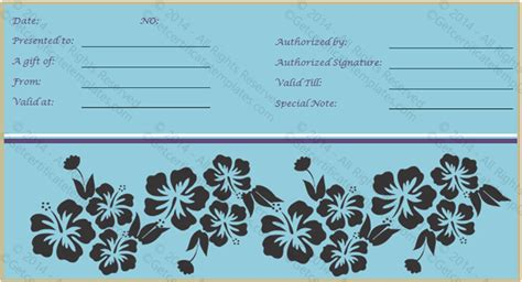 fancy gift certificate template get certificate templates