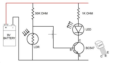 how to make schematic diagram how to make ldr darkness sensor circuit simple diy 7