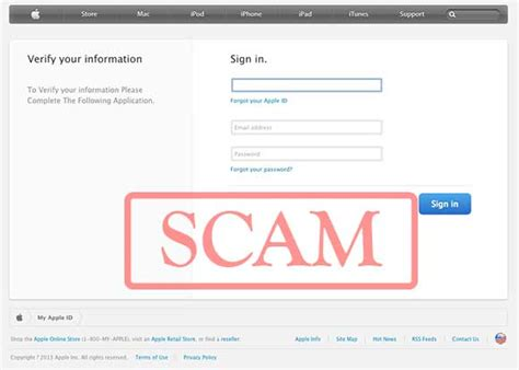 apple email login confirm your apple account phishing scam