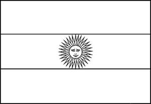 Argentina Flag Coloring Page For Kids  Pages Pintere sketch template