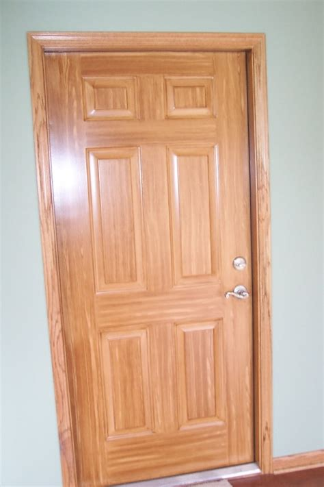 Paint Or Stain Fiberglass Exterior Doors Door Staining Gel Stain Garage Door