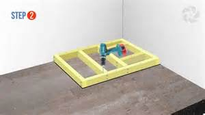 build a floor installing a raised wetroom base on a concrete floor wetrooms online youtube