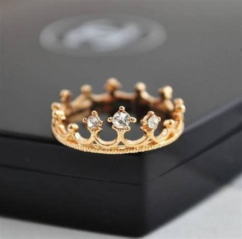 jewels ring jewelry gold tiara crown ring princess