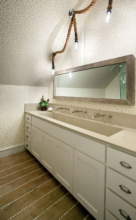rope chandelier eclectic bathroom tracy hardenburg