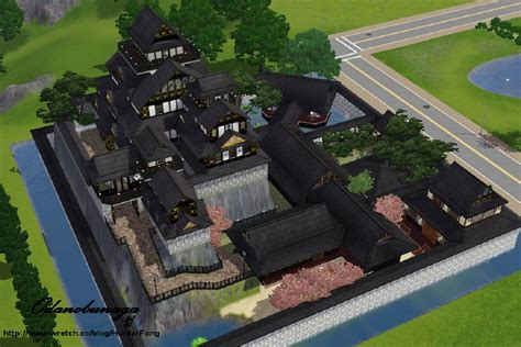 Log Homes Floor Plans With Pictures mod the sims japanese style castle chi bu