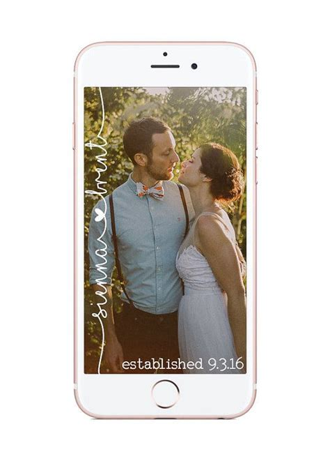 Custom Snapchat Geofilter Wedding by HaleysDesignsShop on