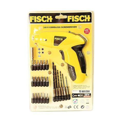 Bor Baterai jual fisch cordless screwdriver mesin bor baterai harga kualitas terjamin blibli