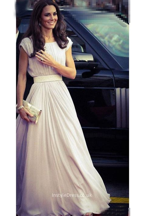 Promo Dress Shakira Uk 2 3 Th Dress Yukensi Dress Murah Dress Balita cap sleeve boat neck chiffon evening dress