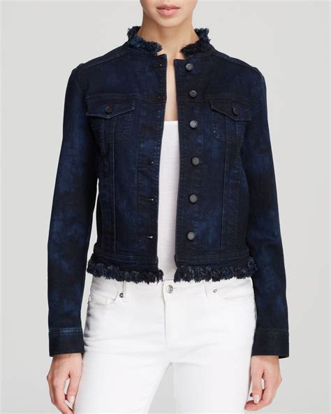 Jaket Blazer Jaket Denim Exclusive elie tahari meggie denim jacket bloomingdale s exclusive