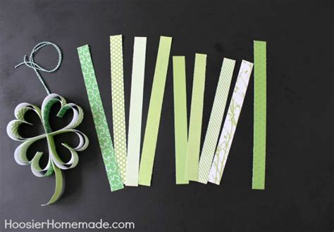 st s day craft how to make paper shamrocks