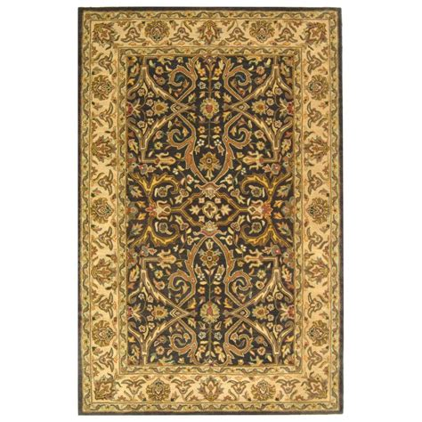 8 x 10 ft area rugs safavieh heritage charcoal beige 8 ft x 10 ft area rug hg644a 8 the home depot