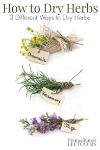 how to dry herbs and flowers