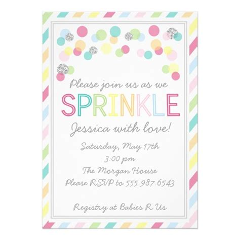 Sprinkle Shower Invites by It S A Baby Sprinkle Baby Shower Invitation 5 Quot X 7