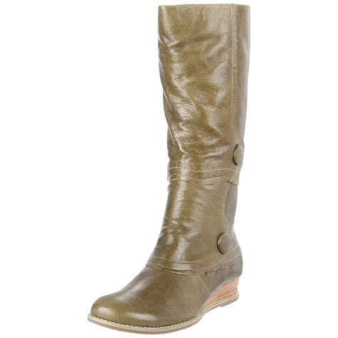 miz mooz blossom knee high boot in brown green lyst