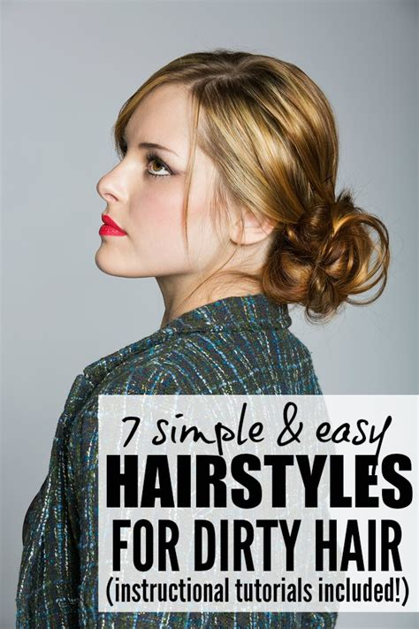 easy hairstyles for short dirty hair 7 easy sexy stylish hair updos for dirty hair