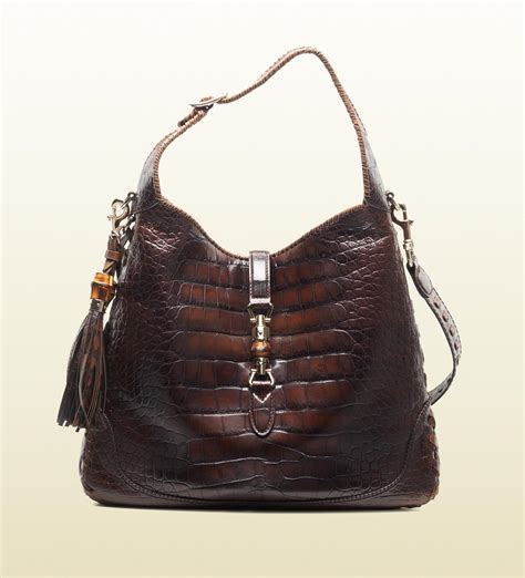 crocodile shoulder bag gucci new jackie crocodile shoulder bag all handbag fashion