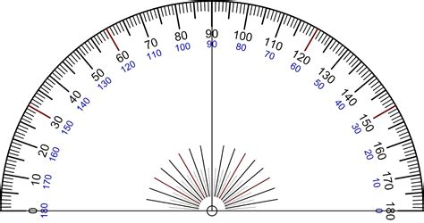 printable protractor with ruler maths protractor
