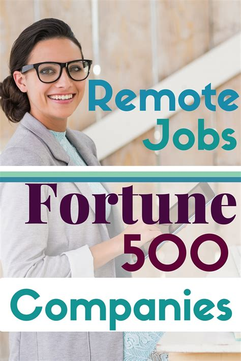 remote at fortune 500 companies work from home