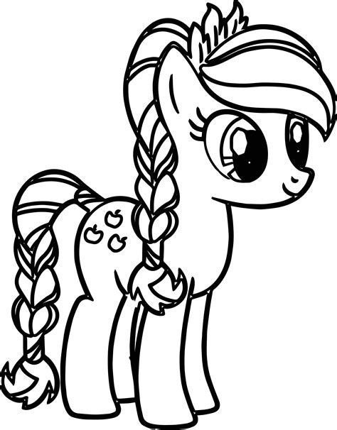 Coloring Page Pony by Pony Coloring Pages Timykids