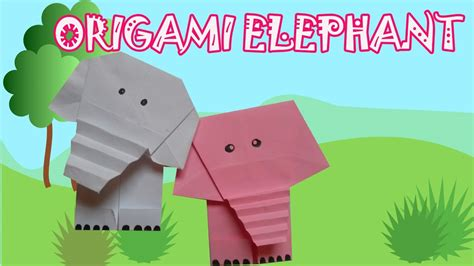 origami safari animals origami elephant origami easy